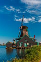 Windmills in Zaanse Schans, Holland, Netherlands