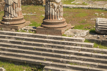 The steps in front of Trajan's Market place