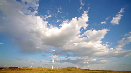 Windpower. Wind turbines