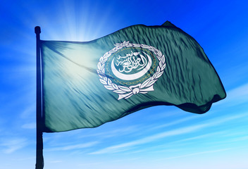Arab League flag waving on the wind