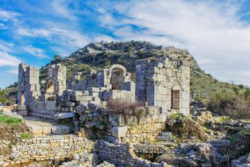 Antiche rovine in Turchia