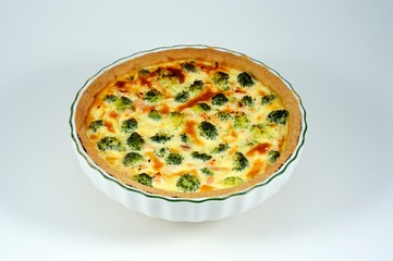 Salmon and broccoli quiche © Arena Photo UK
