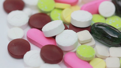 HD Macro, Loopable Colorful Medicine Pills