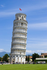 The famous leaning tower in Pisa