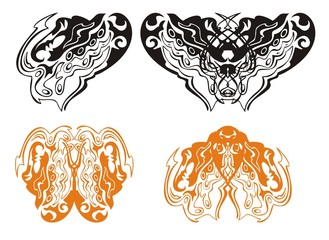 Heart of a dragon and dragon butterfly