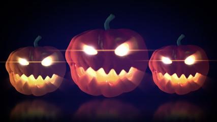 halloween pumpkin glowing eye loop able animation