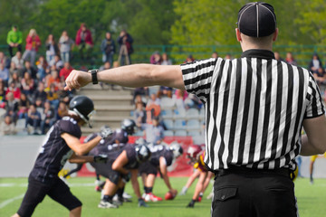 American football referee.