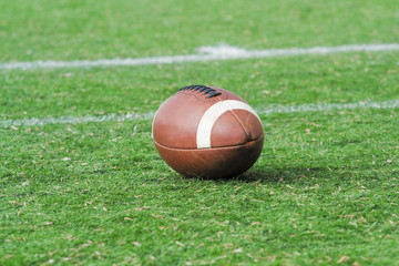 American football ball.