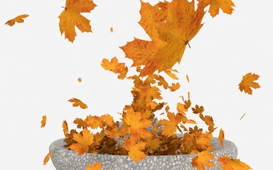 Fontana di foglie autunnali