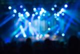 Fototapety Defocused crowd on a concert.