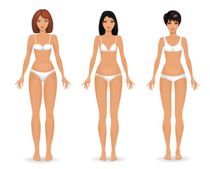 collection Female body template front