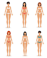 collection Female body template