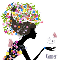 Zodiac sign cancer. fashion girl
