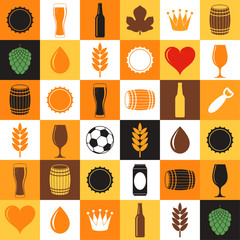 Beer, Icon set