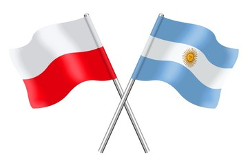 Flags: Poland and Argentina