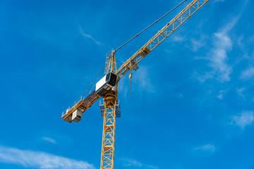 Construction crane next to the building