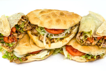Dürüm und Döner Kebab