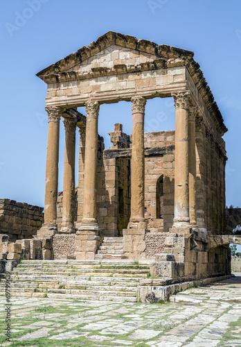 Fotobehang Tunesië Roman ruins of Sufetula near Sbeitla