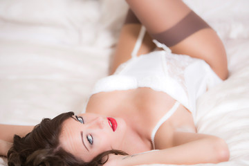 Sensual Young Pin Up Model Wearing Lingerie