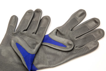 Safety gloves isolated on white background