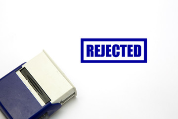 Rejected stamp on white background