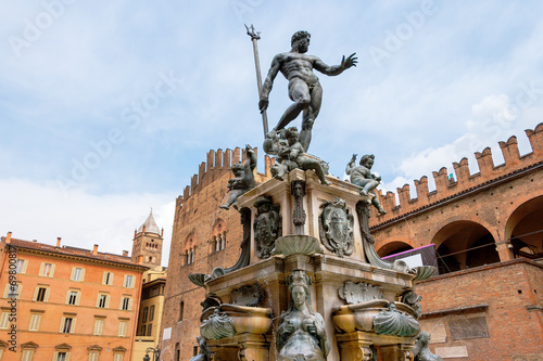 Fotobehang Fontaine Fountain of Neptune. Bologna, Italy