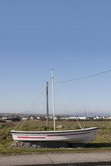 boat monument on entering Ballybunion