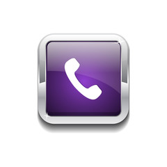 Call Rounded Corner Vector Purple Web Icon Button