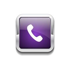 Call Rounded Corner Vector Purple Web Icon Button
