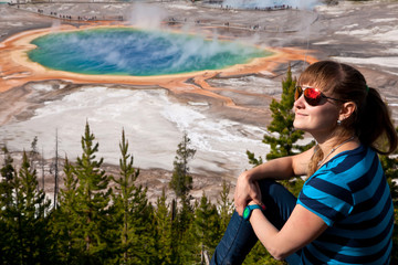 USA - girl in Yellowstone NP