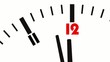 Animated clock. Last seconds to 12 o'clock. FullHD video