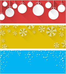 Christmas abstract banners.