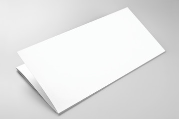 Blank folded sheet of paper or letterhead