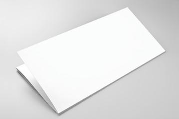 Blank folded sheet of paper or letterhead