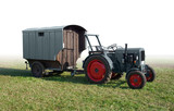 historic tractor with trailer - 69803082
