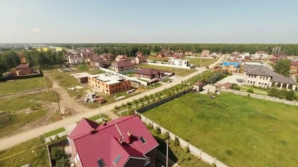 Village. View from a height of 20 meters.