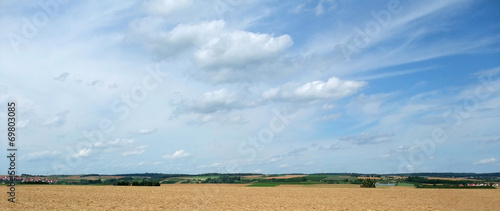 canvas print picture rural panoramic landscape in Southern Germany