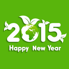 Happy New Year 2014 background with save the world concept