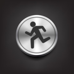 Simple running human icon silhouette