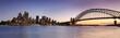 Leinwanddruck Bild - Sydney CBD from Kirribilli Set Panor