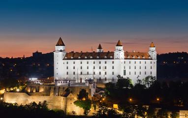 View of the Bratislava lock at night, Slovakia