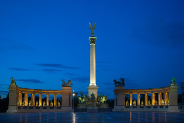 Heroes Square Budapest.