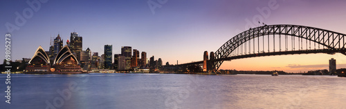 Poster Stad gebouw Sydney CBD from Kirribilli Set Panor