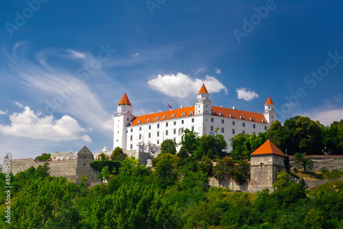 Plagát, Obraz Medieval castle on the hill against the sky, Bratislava