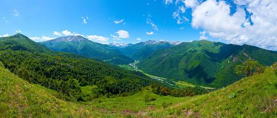 Beautiful mountain landscape, Caucasus, Russia.