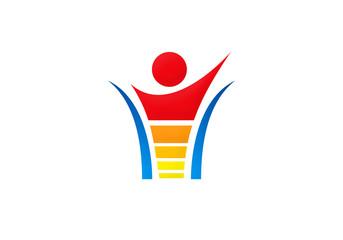 people power energy vector logo