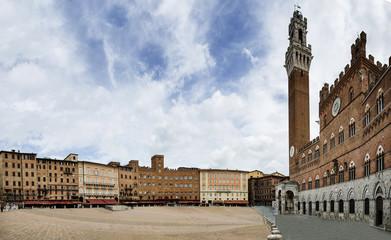 Piazza del Campo, siena, italia