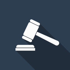 gavel icon with long shadow