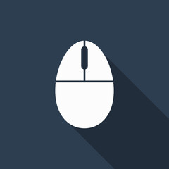 mouse icon with long shadow