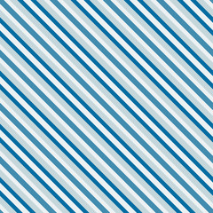 Blue sea diagonal stripes seamless pattern - vector texture